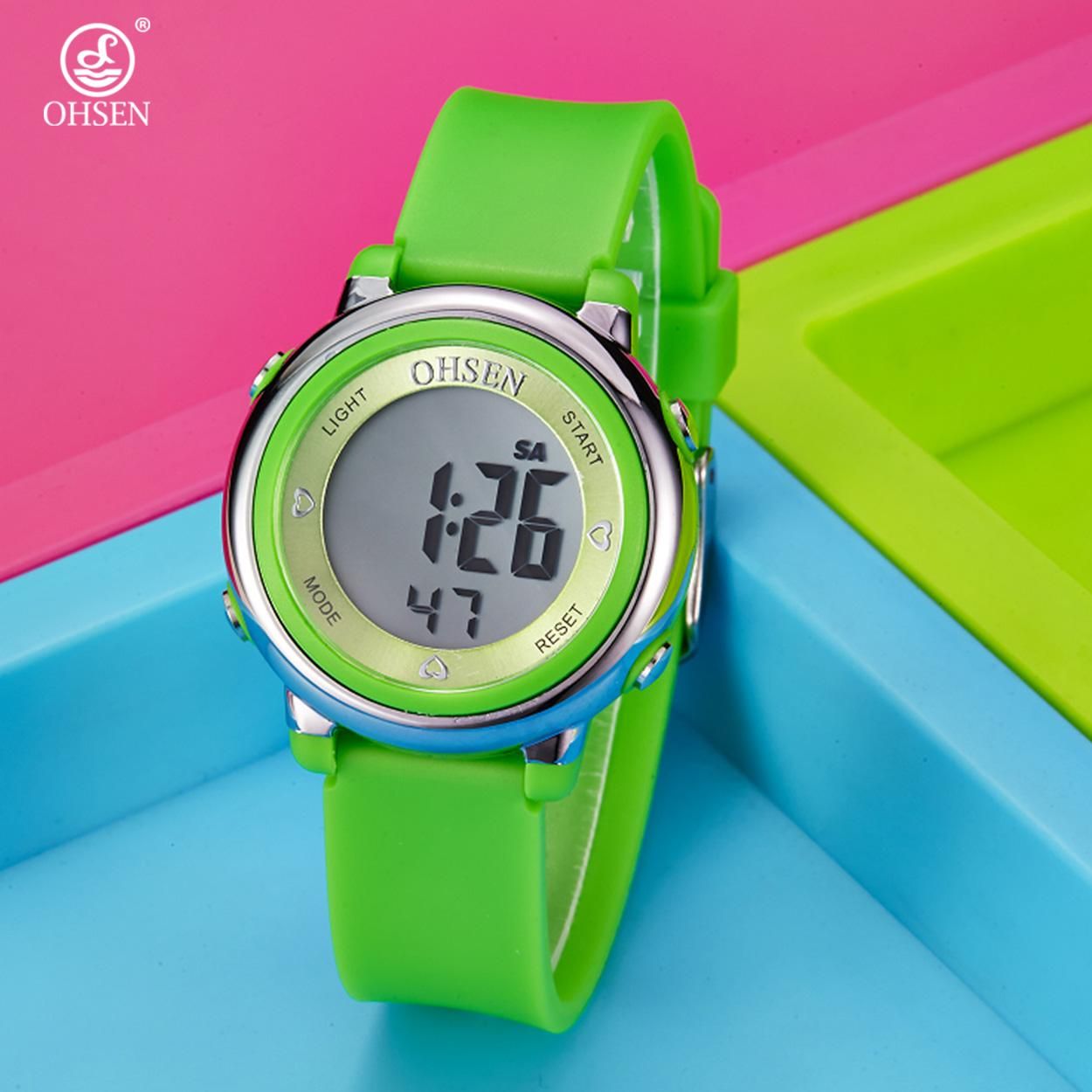 Ohsen 1605 Multi-function Water Resistant Fashionable Sports Watch (Green)