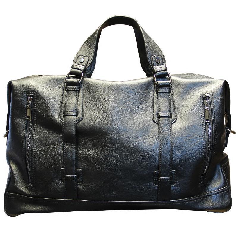 a0413138e1e8 Genuine Cow Leather Tote Bags Korean men s bag large capacity travel short- bag travel bag