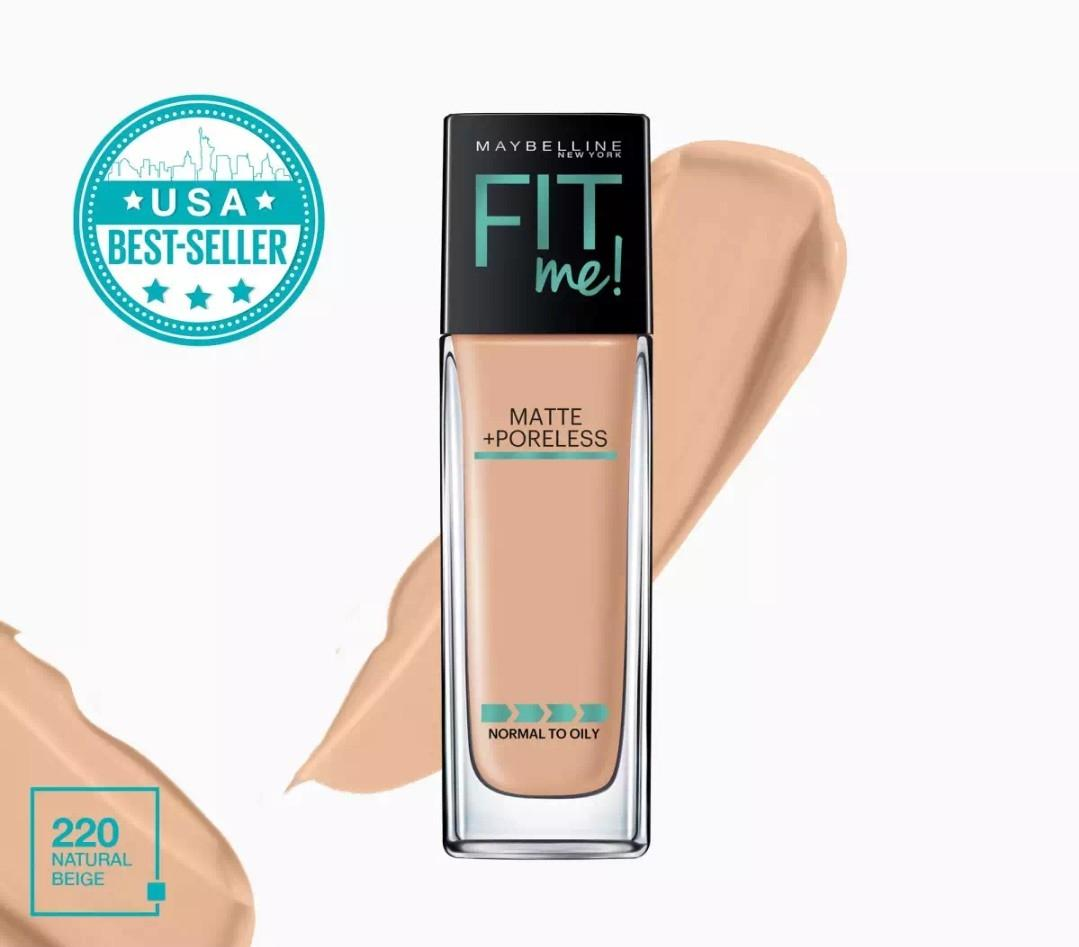 FIT ME + PORELESS LIQUID FOUNDATION - 220 NATURAL BEIGE Philippines