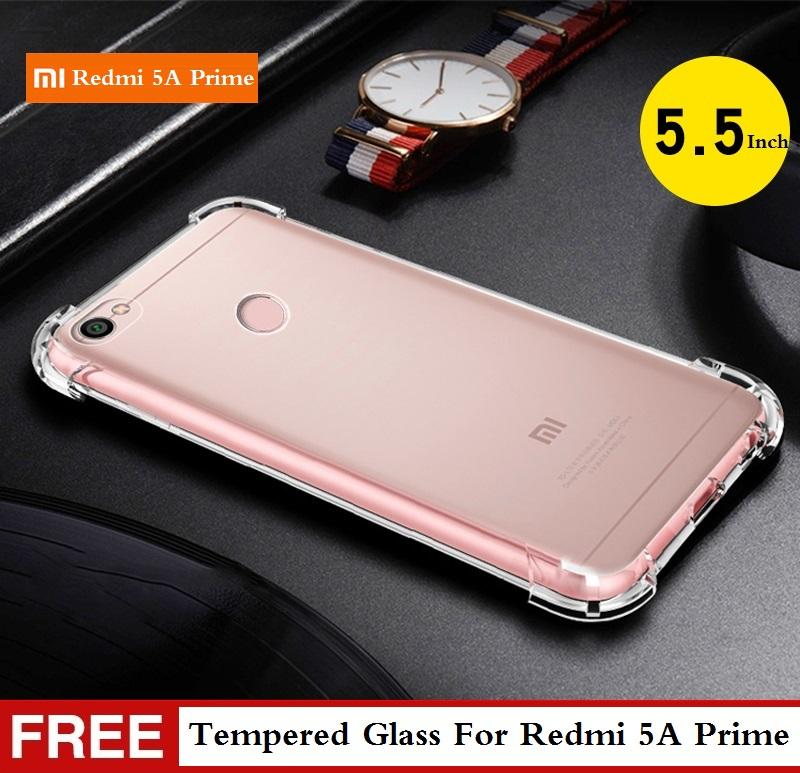 【Free Tempered Glass】Xiaomi Redmi Note 5A Prime Phone Cases TPU Soft Case For