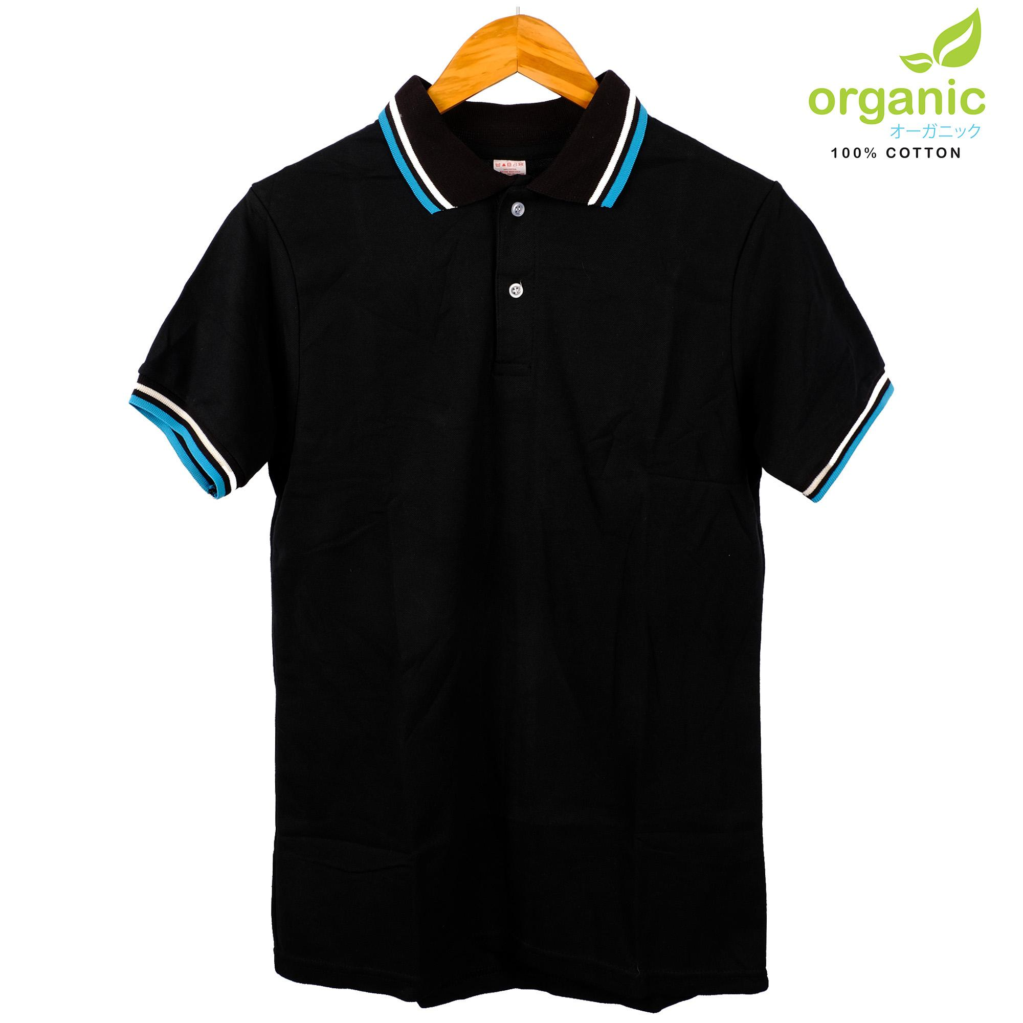 Organic Mens Tipped Pique Polo Shirt (Black) Tees t shirt tshirt shirts  tshirts tee 4bdca94d8c