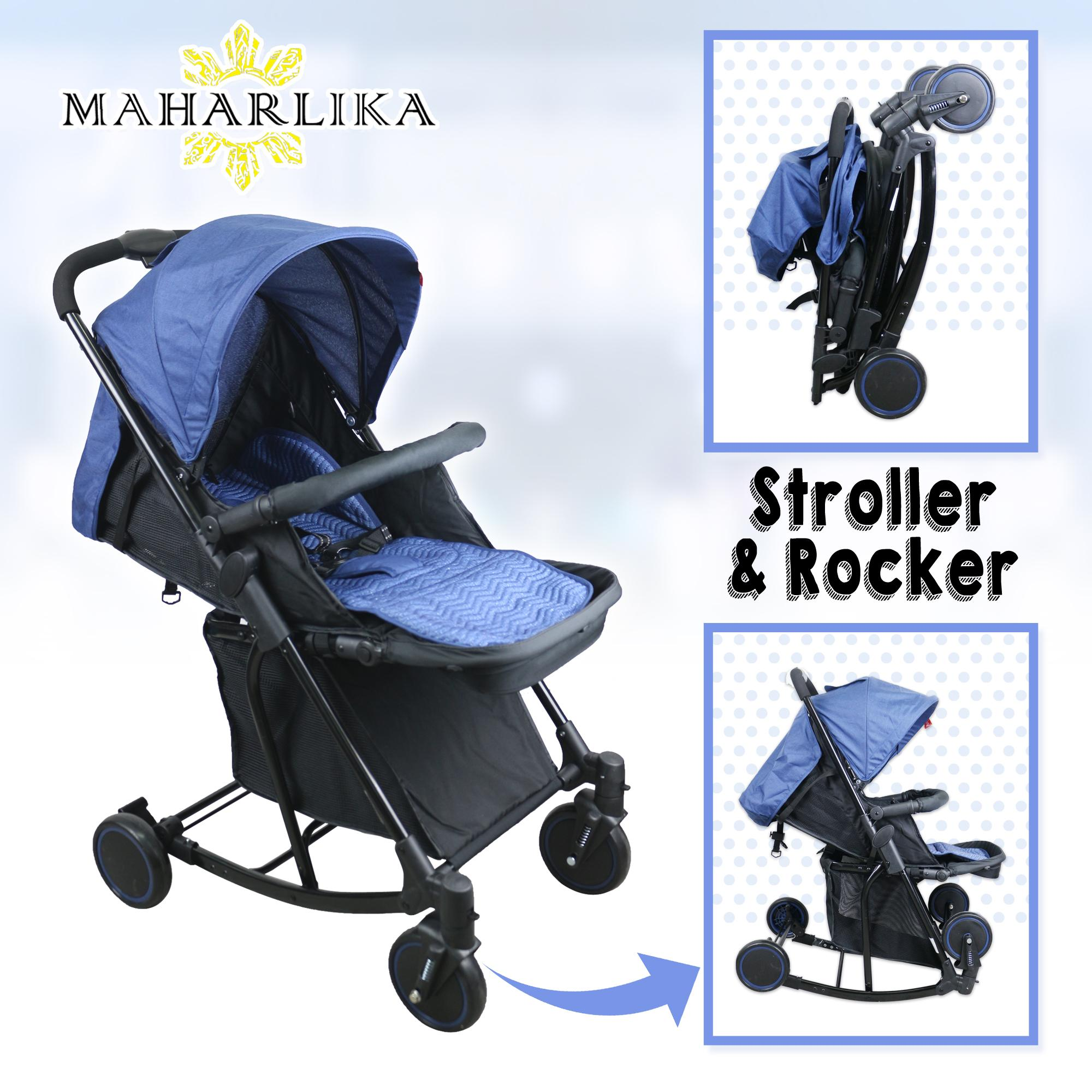 Mk Folding Convertible Baby Stroller Rocker For Baby 0 To 3 Years Old T609 By Maharlika.