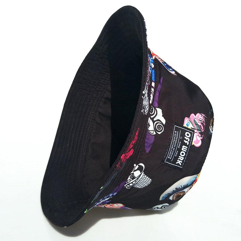 45574ba2b1c117 Offwork Street Popular Brand Fresh Ice Cream Printed Double-Sided Bucket Hat  Outdoor Outing Men