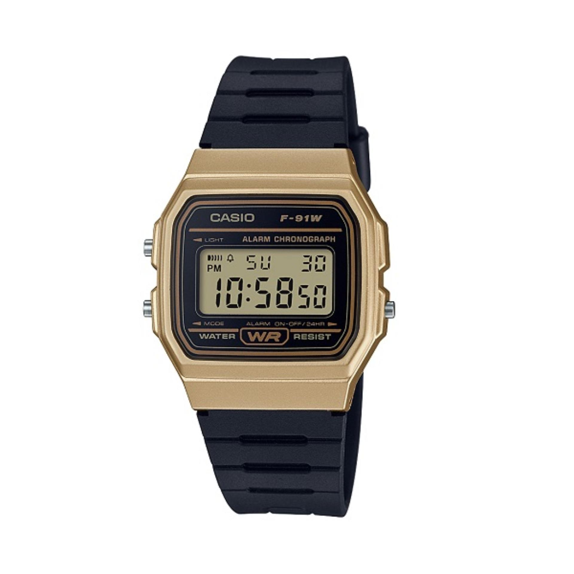 8b32b101d737 Casio Unisex Digital Resin Strap Watch F-91WM-9A with 1 Year Warranty (