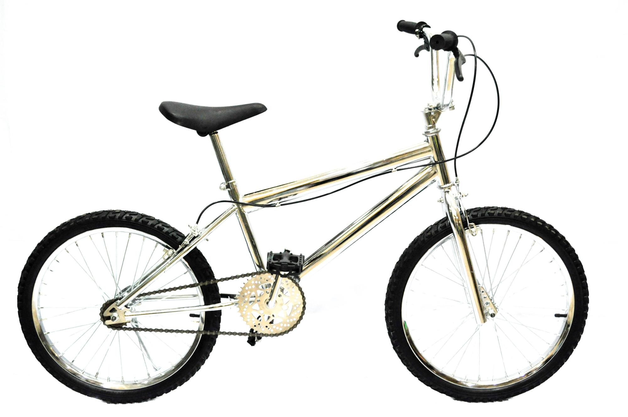 Bicycle BMX 20 CHROME PLATED WITH FREE TIRE PATCH AND GIYO PUMP 45