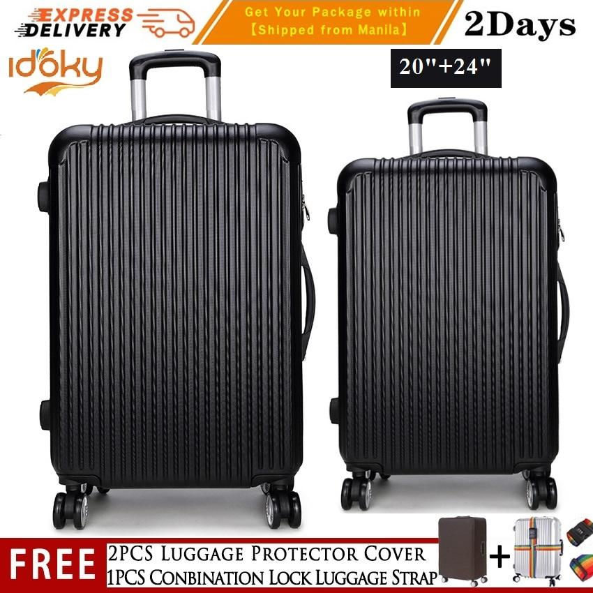 2pcs(20 Inch+24 Inch)【idoky Ph502 Series】popular Suitcase With Explosion Proof Zipper Hard Case Luggage Hand Carry Suitcase By George Global.