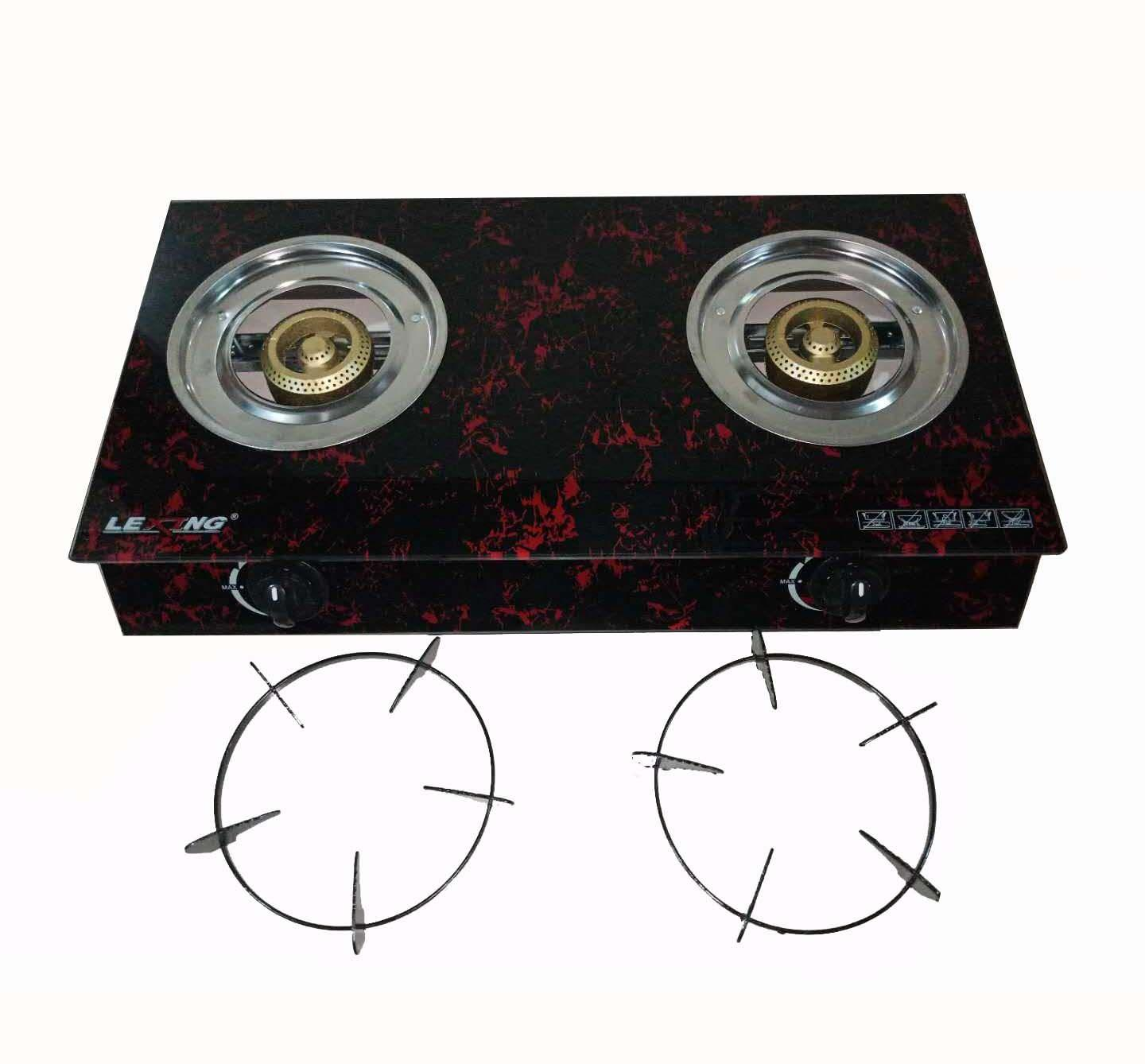 Lexing Gl Burner Double Gas Stove