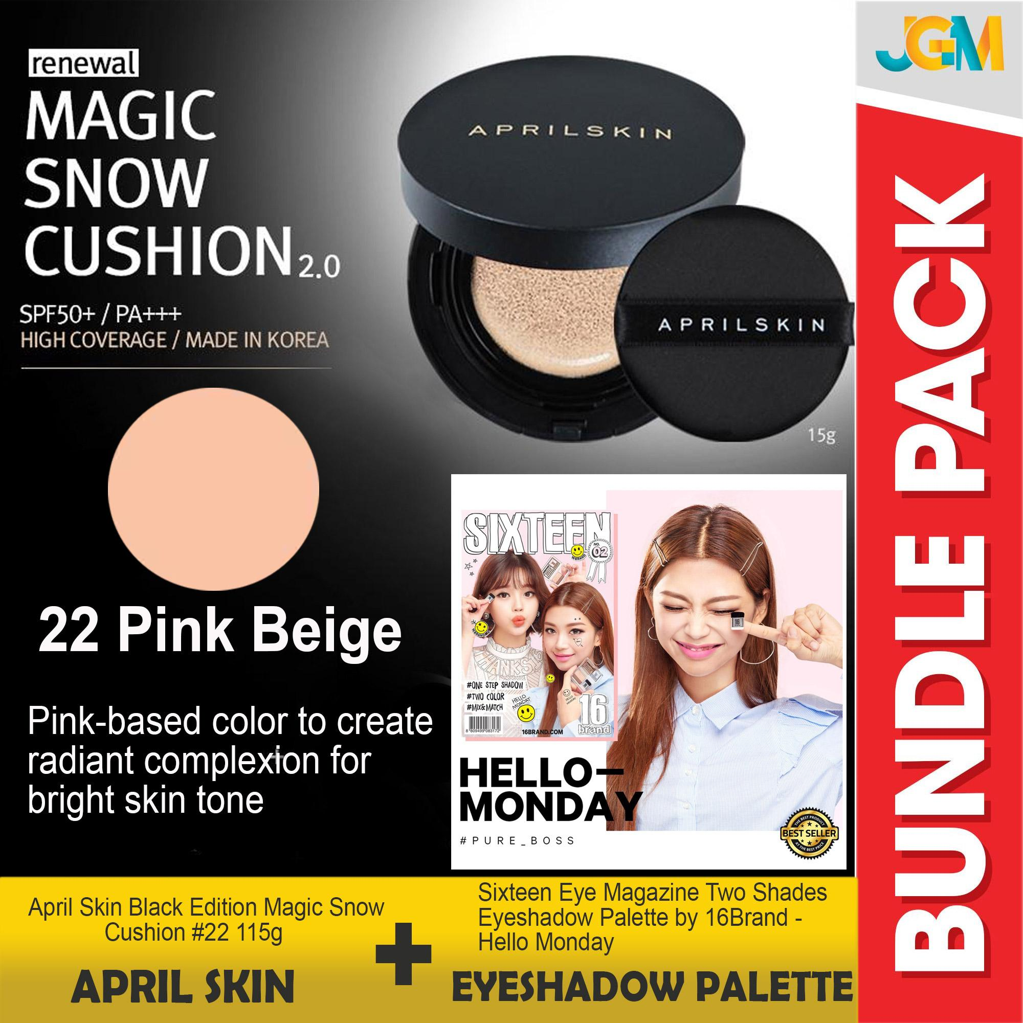 Buy Sell Cheapest 16brand Fingerpen Gangs Best Quality Product Sixteen Eye Magazine Shadow 16 Brand April Skin Black Edition Magic Snow Cushion 22 115g Two Shades