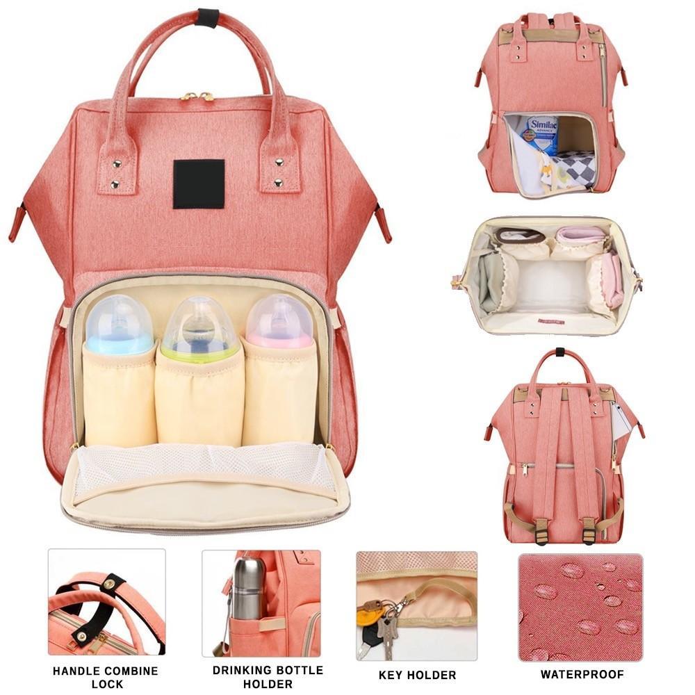 2b4324eb6533d Diaper Bag Mummy Bag Nappy Bag Mommy Bag Baby Bag Diaper Backpack Big  Capacity Diaper Backpack