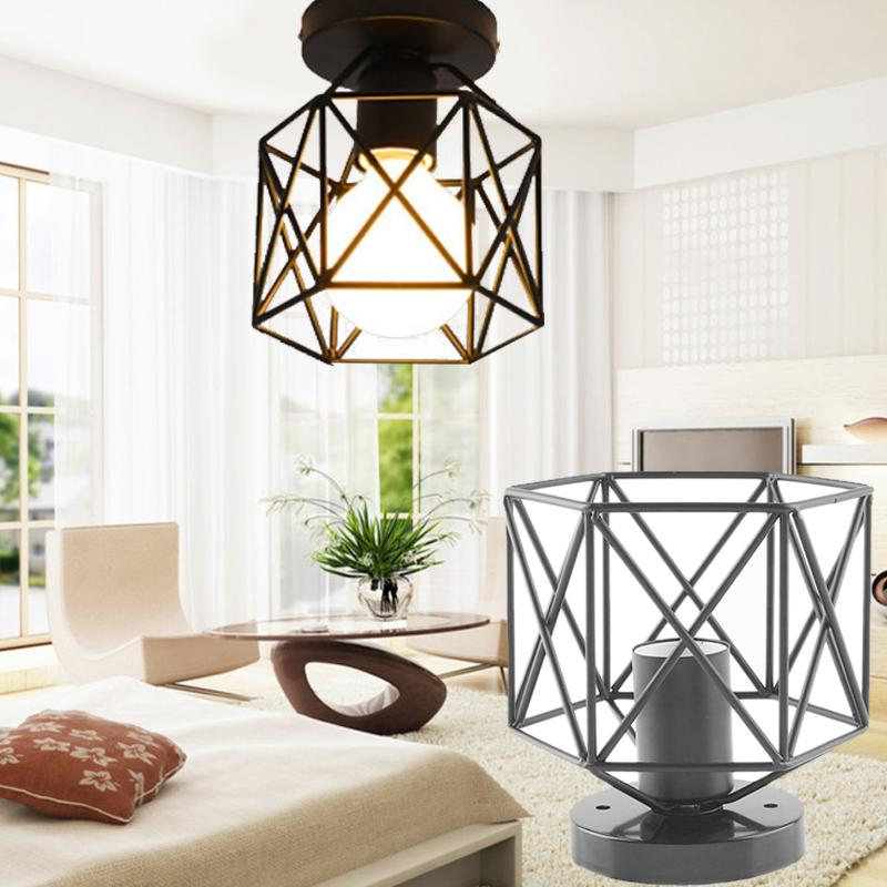 Lampshade for sale lampshades prices brands review in arctic land lampshade iron cage pendant lamp ceiling light cover lighting accessory black intl aloadofball Choice Image
