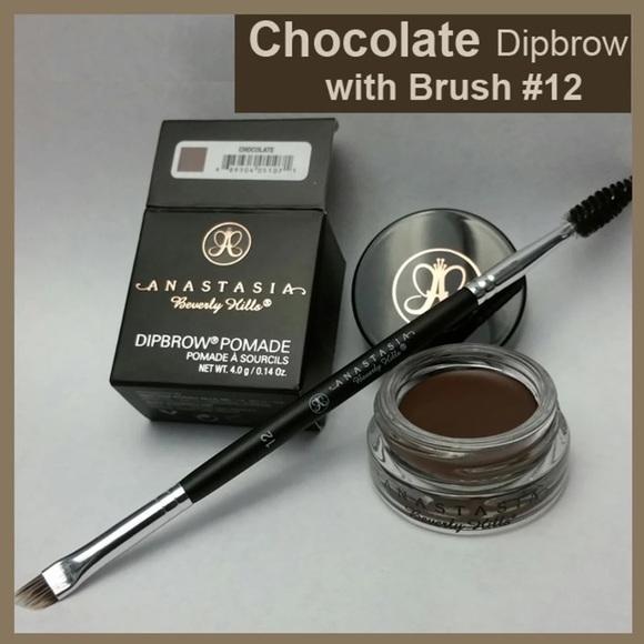 JBox# Anastasia Dipbrow Pomade Eyebrow ( CHOCOLATE ) With Free #12 Brush Philippines