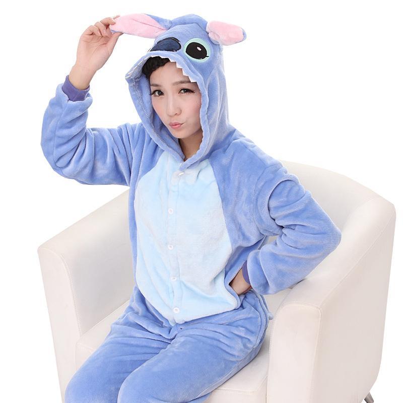 3dec52223a Wholesale Animal Stitch Unicorn cartoon Adult Unisex Cosplay Costume  Pajamas Sleepwear For Men Women BIG Children