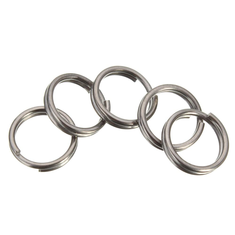 f2c5cf42fe 10MM EDC Gear Titanium Ti Key Chain Key Ring Split Ring 4-12 ...