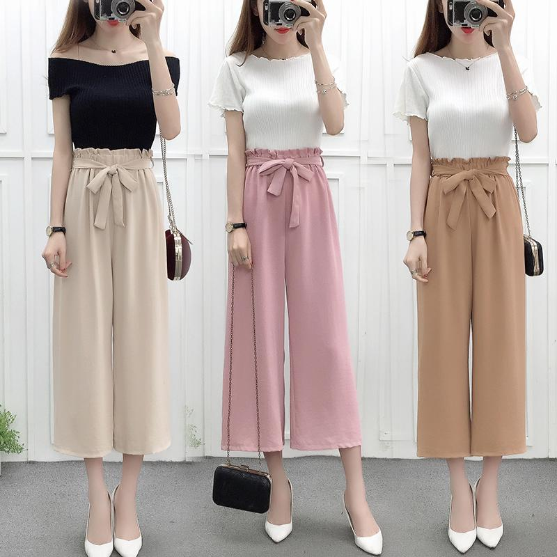 a01a1eb453c Chiffon Loose Pants women Summer Thin Section High-waisted Loose Korean  Style Students Ulzzang Versatile