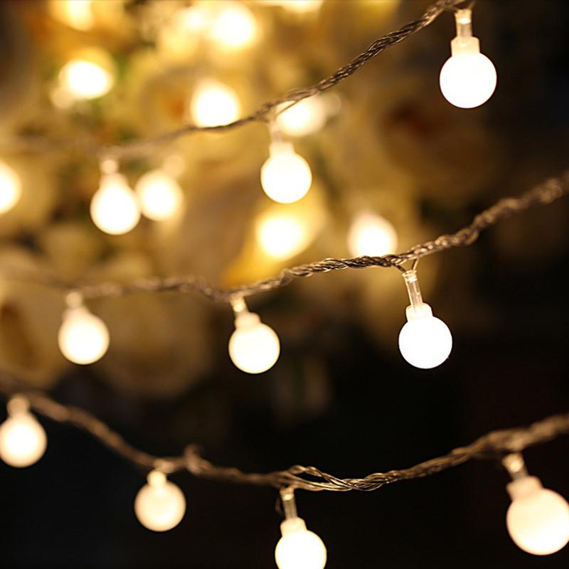 LED Christmas lights string Lights, Warm White Ball Fairy Lights, Waterproof Decorative Starry Lights