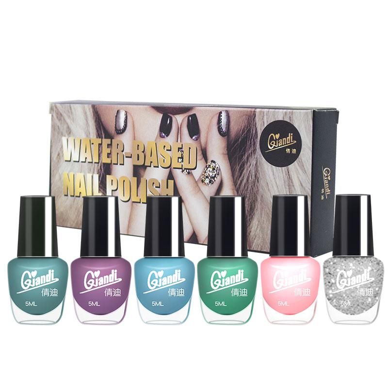 QIANDI 6 pcs Mirror Nail Polish (1 Set) Philippines