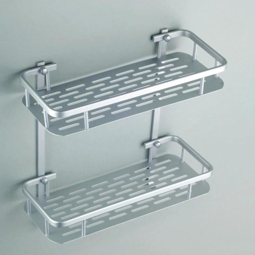 High Quality 2 Tier Bathroom Storage Organizer Holder Shelf With Hooks By Luckylkh2 Shop.