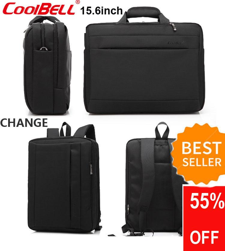 335bb5601231 CoolBELL 15.6 inch Multi-function Convertible Laptop Messenger Computer Bag  Single-shoulder Backpack Briefcase