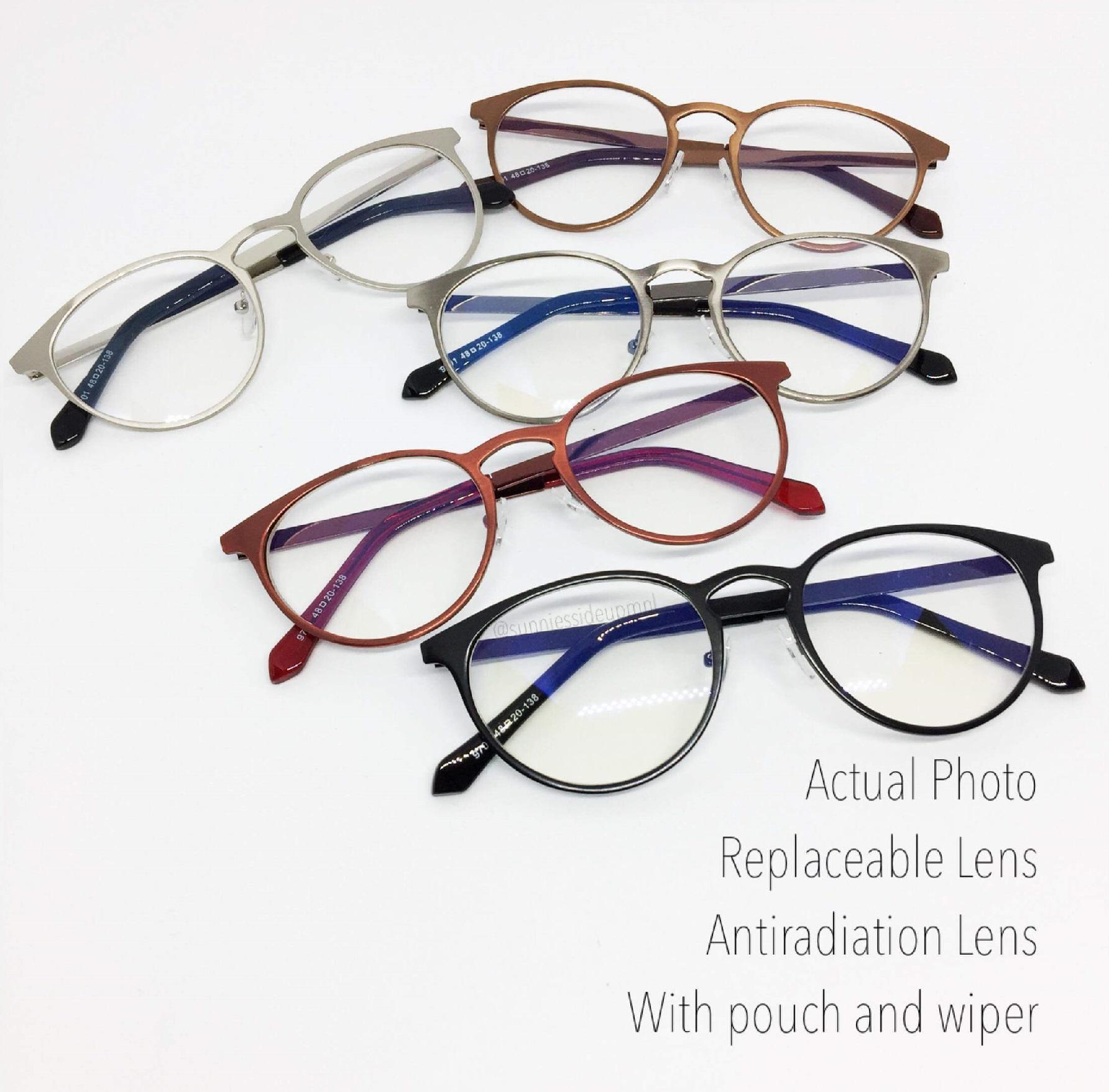 AMIRA Antiradiation Eyeglasses - Replaceable Lens - Computer Glasses -  Metal Frame 984b438f3cb3