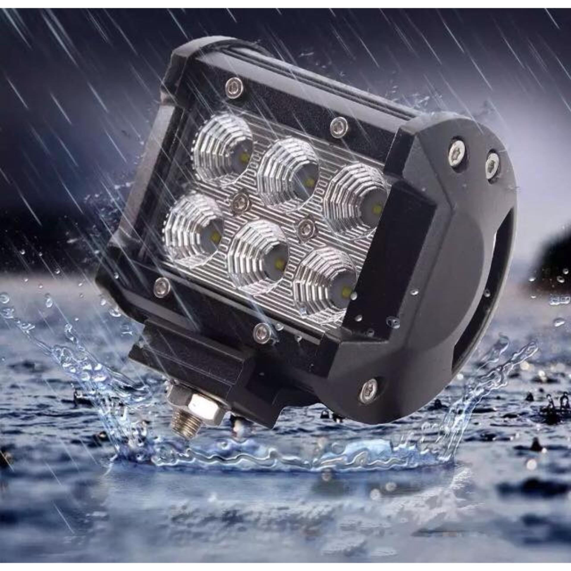 18W Cree Chips Square LED WORK LIGHT BAR Offroad 12V 24V Auto Car Motorcycle Bicycle SUV