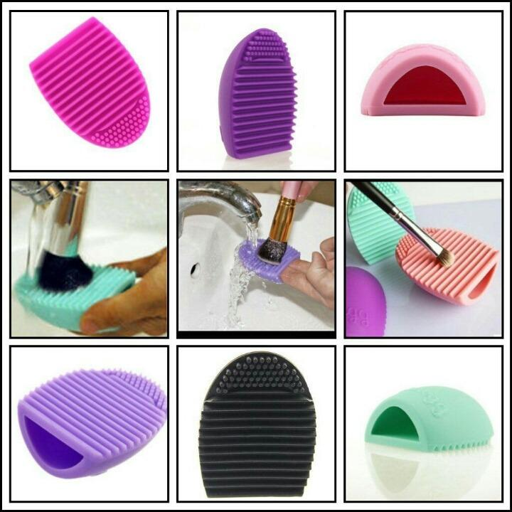 BRUSH  EGG-MAKE UP CLEANER ( violet color) Philippines