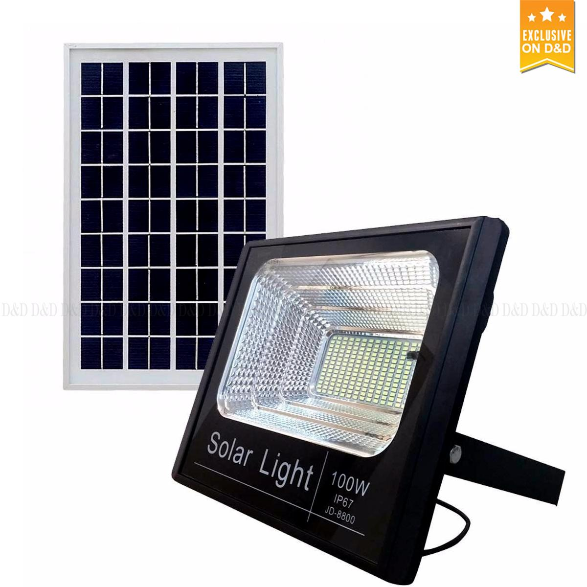 D Dccy Led Spotlight 100 Watts C Solar Panel And Full Control