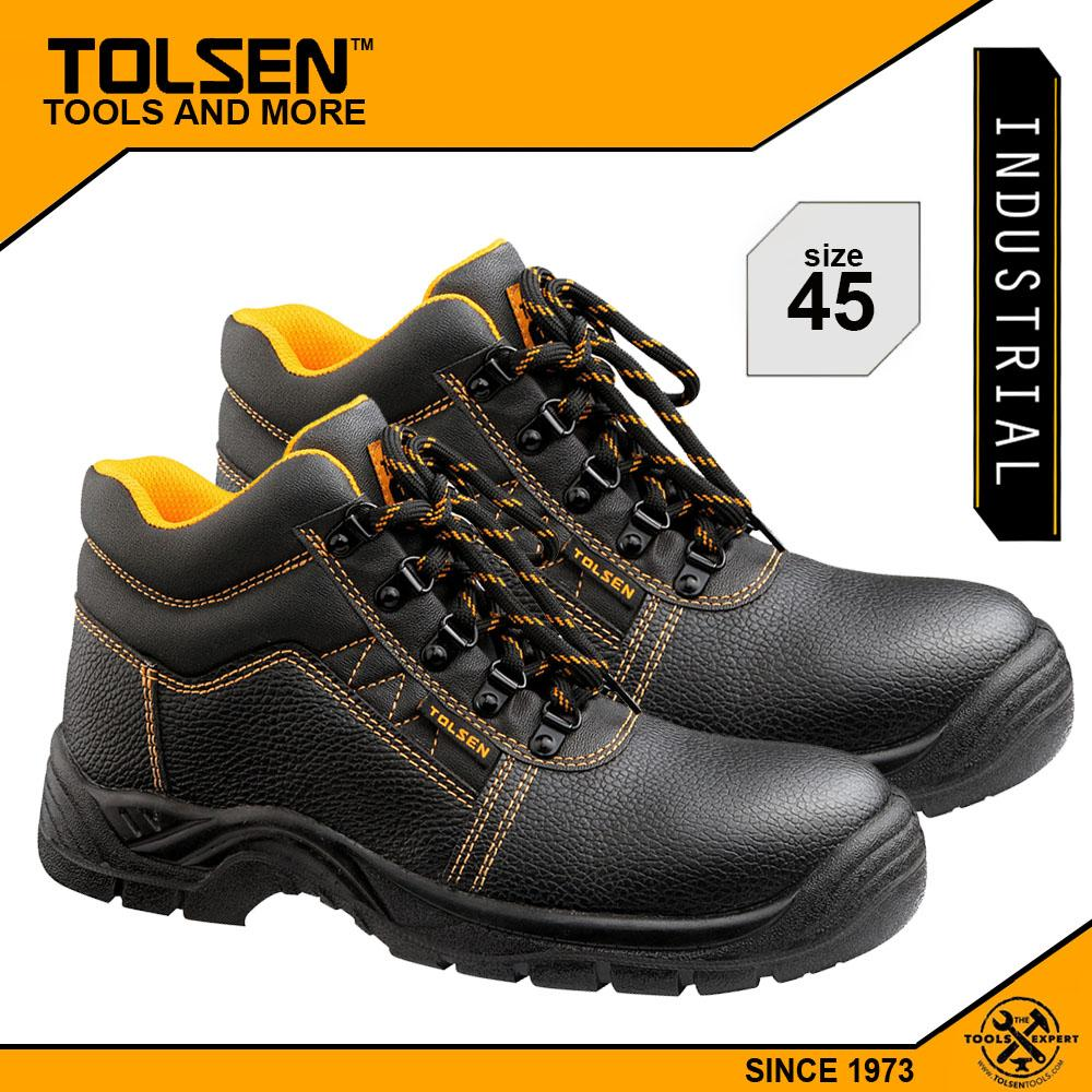 Tolsen Industrial Safety Shoes (Size 11.5) with Steel Midsole and Toe Cap  45357 Philippines