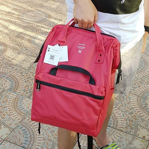 Anello Limited Edition Water Repellant Backpack - Red Pink a388418a3a337