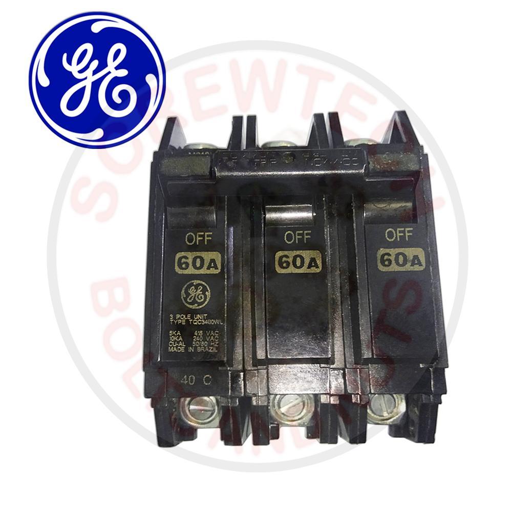 GE Circuit Breaker 60A 3 Pole TQC3460WL