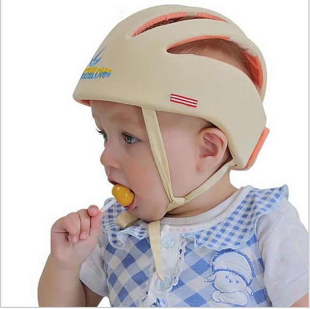 a2255658a1a Product details of Cotton Infant Toddler Safety Helmet Baby for Walking  Crawling (Beige) - intl