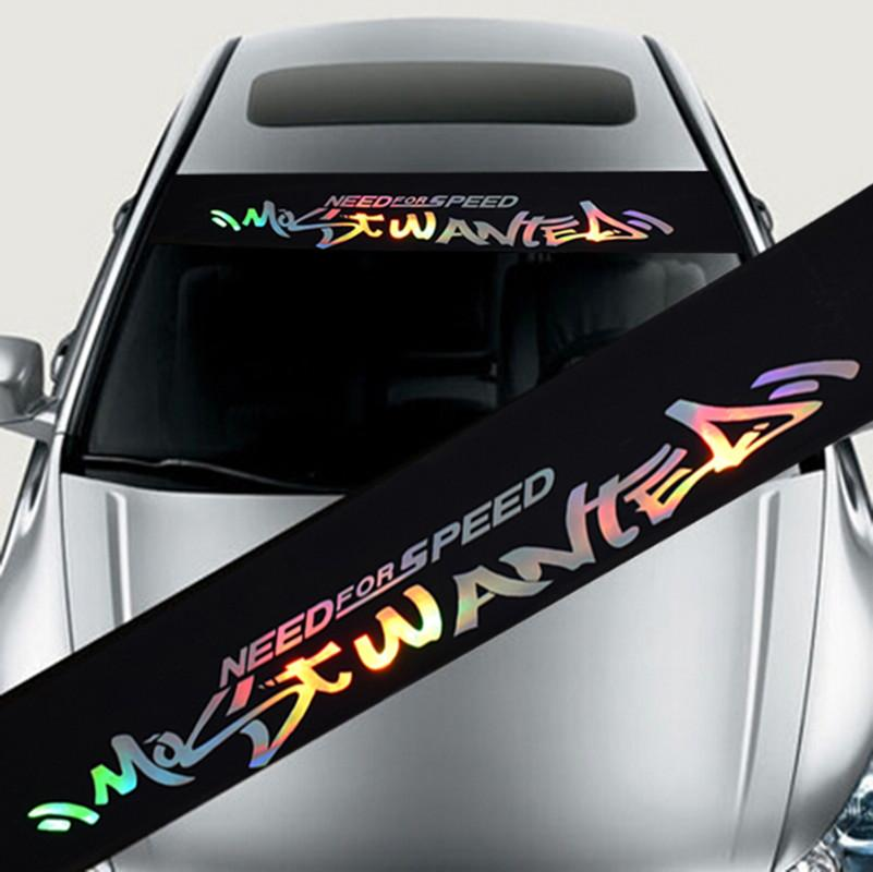 Redcolourful Colorful Reflective Front Windshield Decal Sticker Decoration Decals Car Stickers Styling Style:1