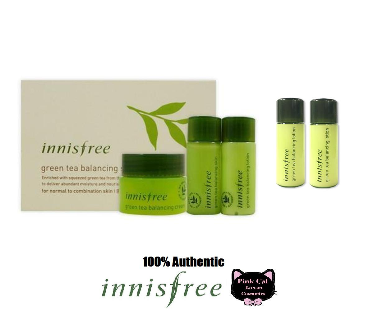 Harga Innisfree Green Tea Special Kit Terbaru 2018 Balancing 4 Items Skincare Sets Brands Gift On Sale Prices Set Korean Cosmetics Authentic