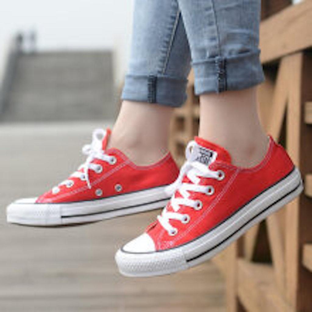 Converse Low Cut Fashion Canvas Shoes For Women 054-1-W