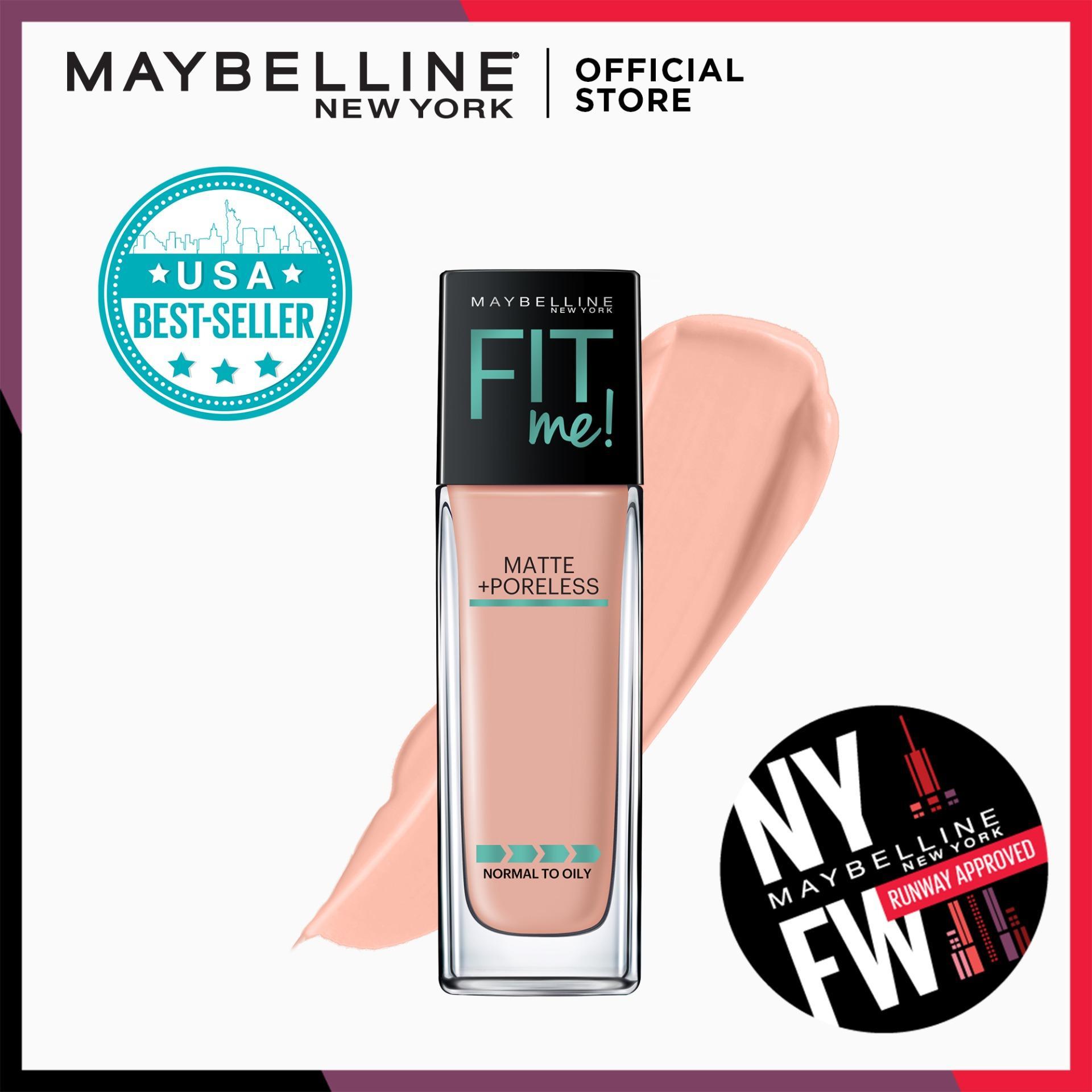 Fit Me Matte+Poreless Liquid Foundation - 122 Creamy Beige [USA Bestseller] by Maybelline Philippines