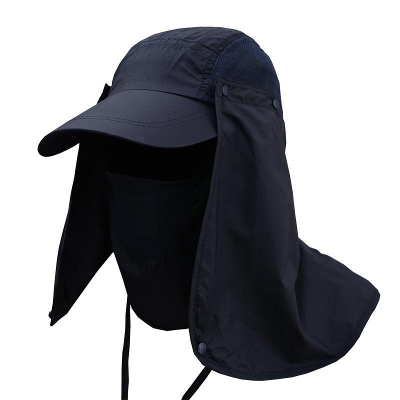 cbd7fc65569 Protection Cap Professional Summer Sun Hats Women Men Neck Face Sunscreen  Flap Hat Fisherman Hat Sun