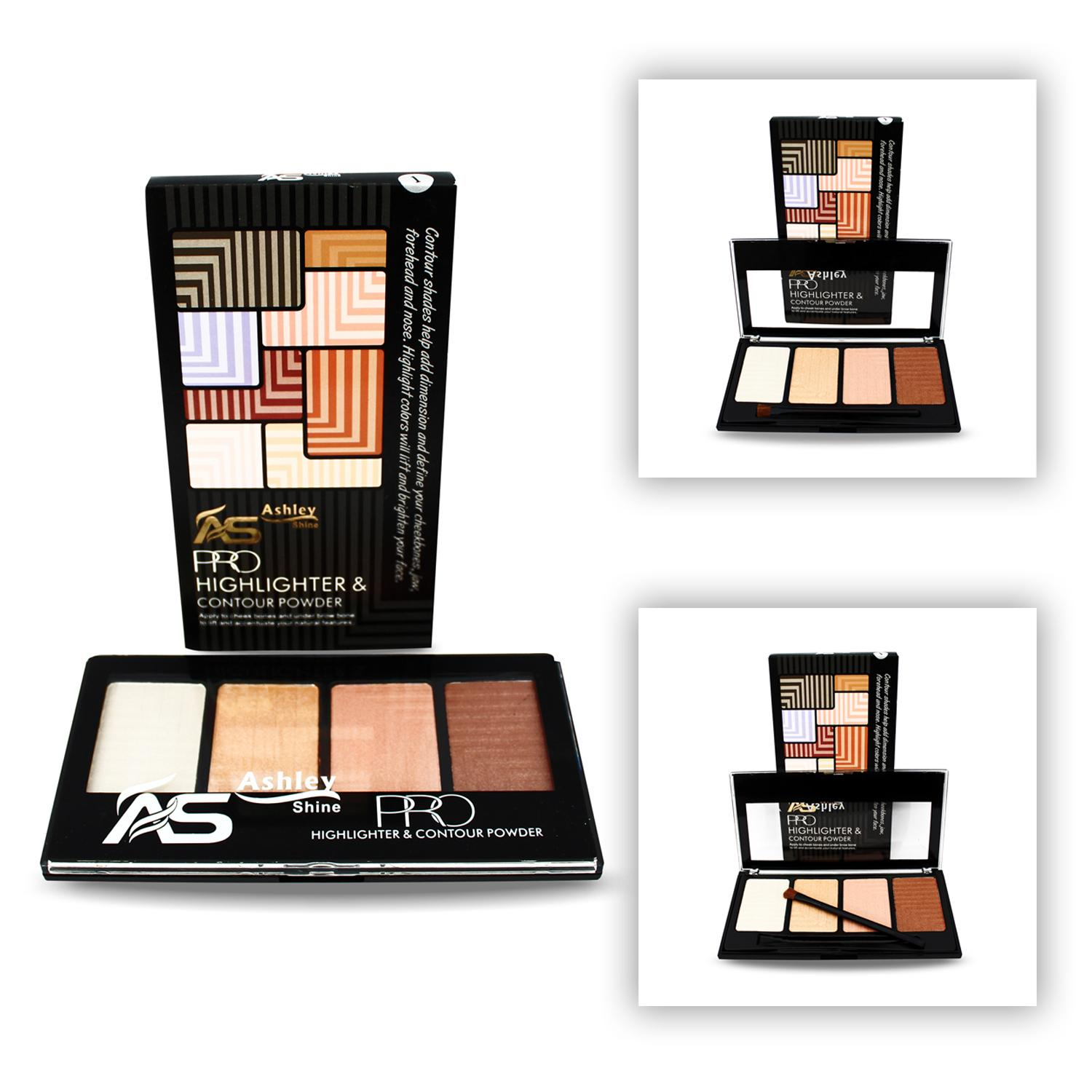 AS Pro Highlighter and Contour Powder 4 Palette-Parkson Philippines