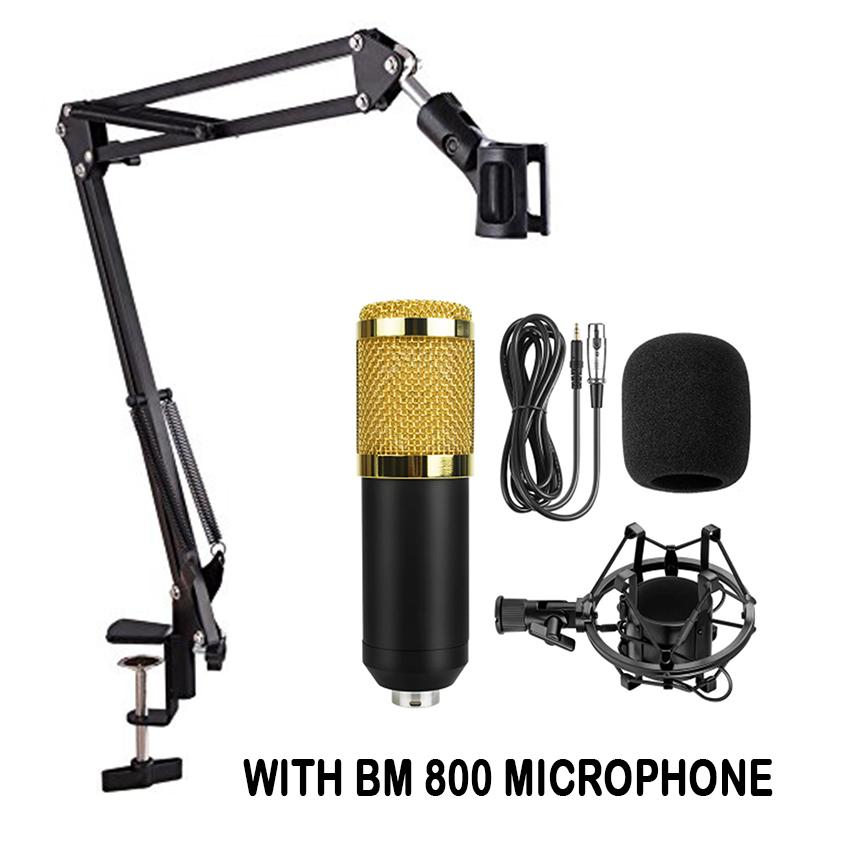 Extendable Recording Microphone Stand Suspension Boom Professional Microphone With Bm 800 Condenser Microphone Pro Audio Studio Vocal Recording By Elena Accessories.