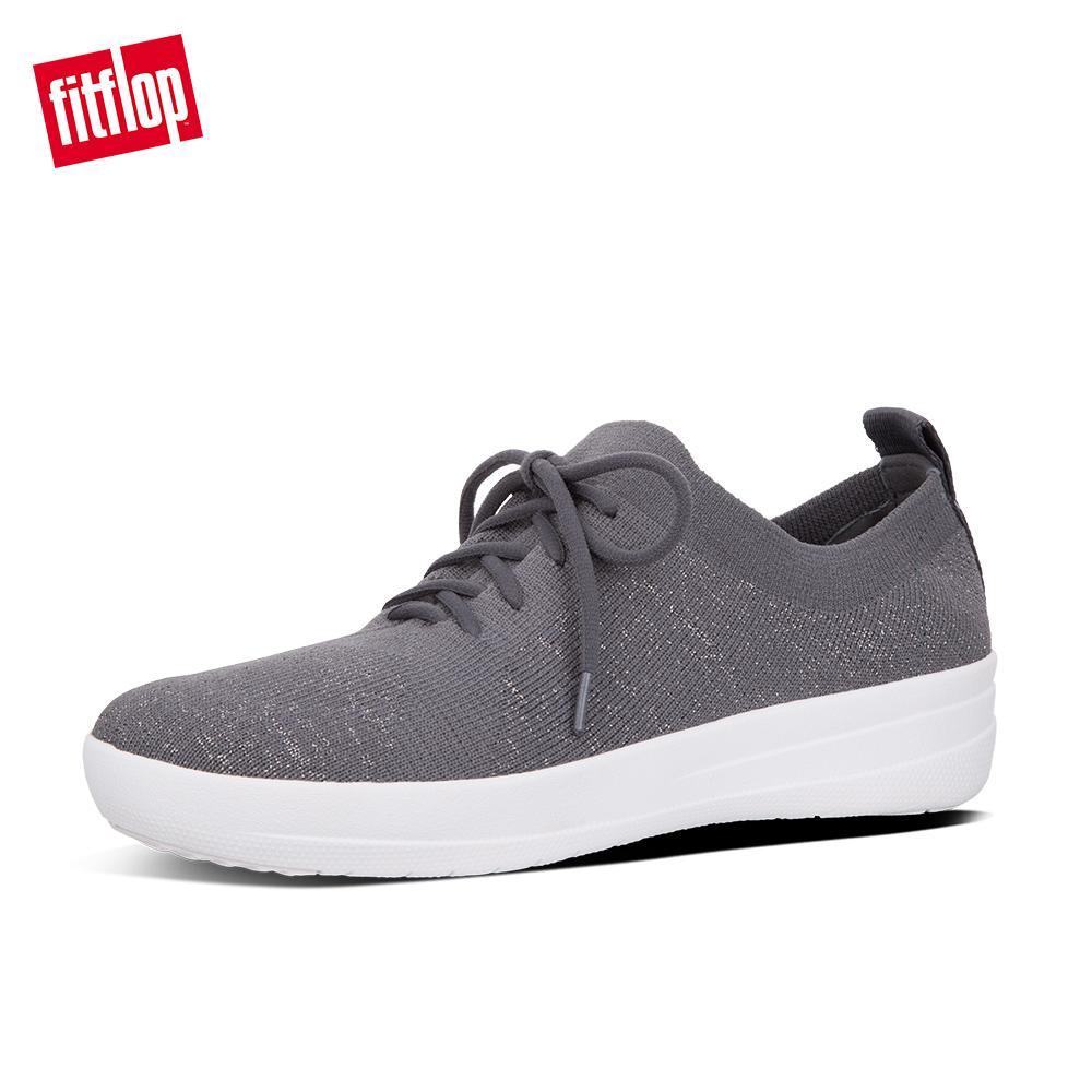 29f2458ae42 FitFlop Women s Shoes L40 F-Sporty Uberknit Sneakers - Metallic Weave  Lightweight Ergonomic Comfortable Flats