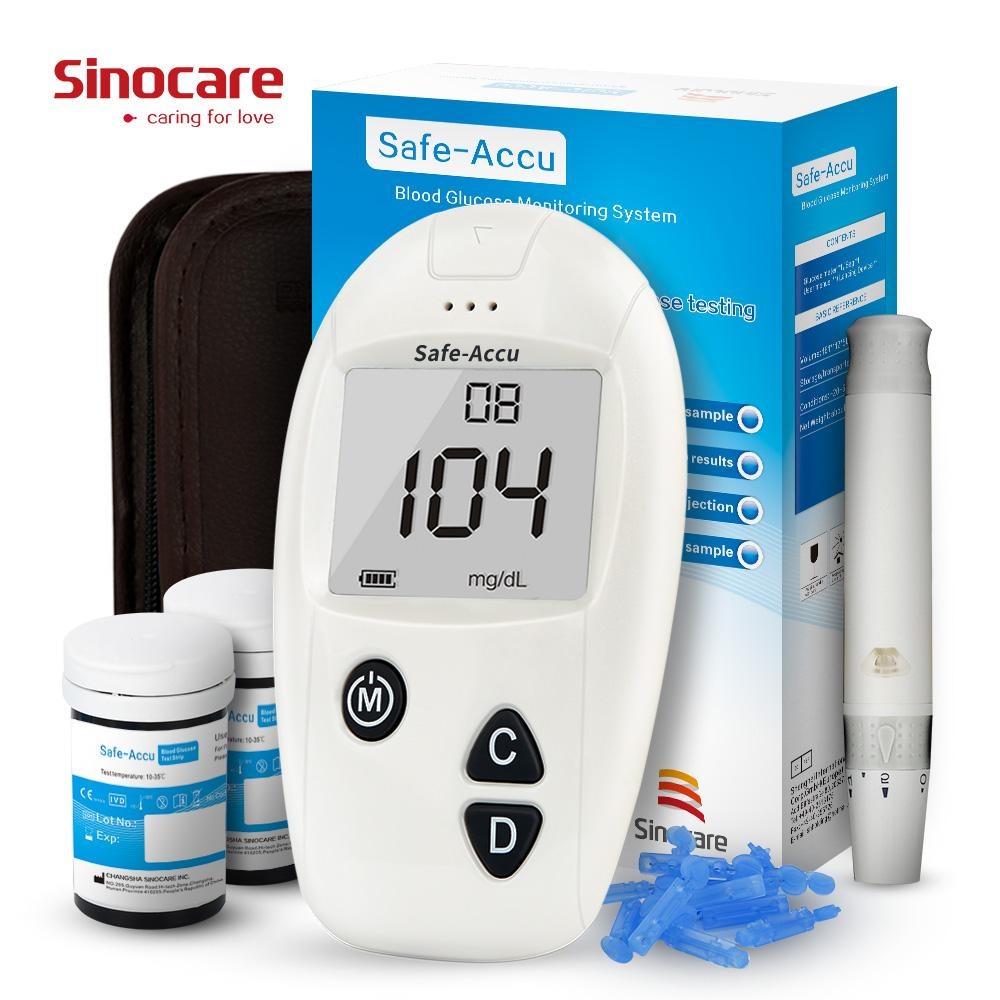 Glucose Level Brands Analyzer On Sale Prices Set Strip Accu Chek Active Sinocare Safe Blood Meter Diabetes Glucometer With 50 Test Strips Lancets