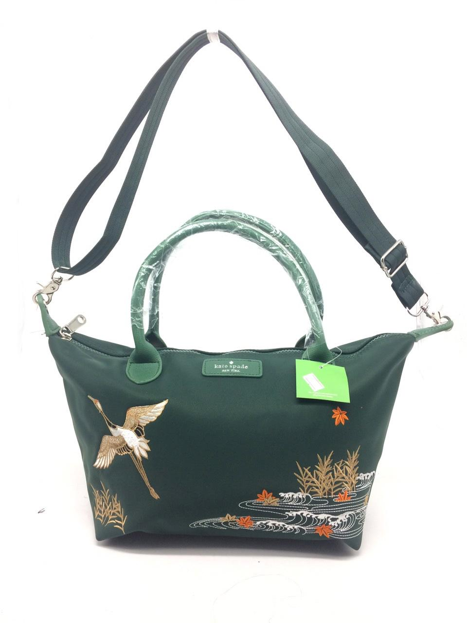 Abby Shi 619 Ks Classic Las Nylon Bag Por Embroidery