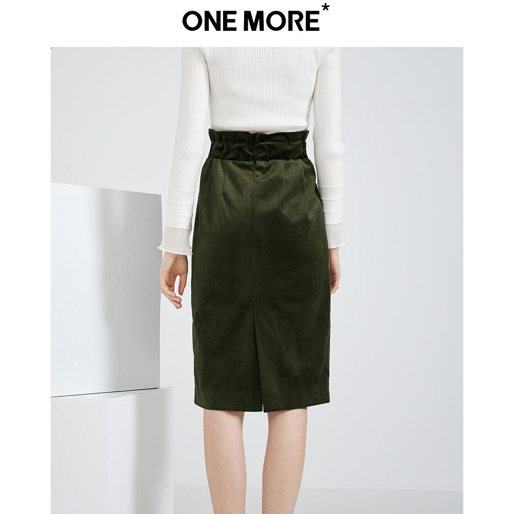 6c00cfd2a ONE MORE2018 Autumn Clothing New Style Hong Kong Flavor Skirt women  High-waisted Sheath dress