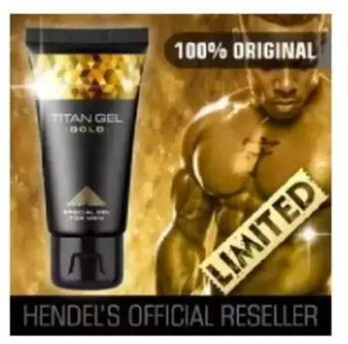 Authentic Titan Gel Gold Penis Enlarger 50ml By Uj Store.