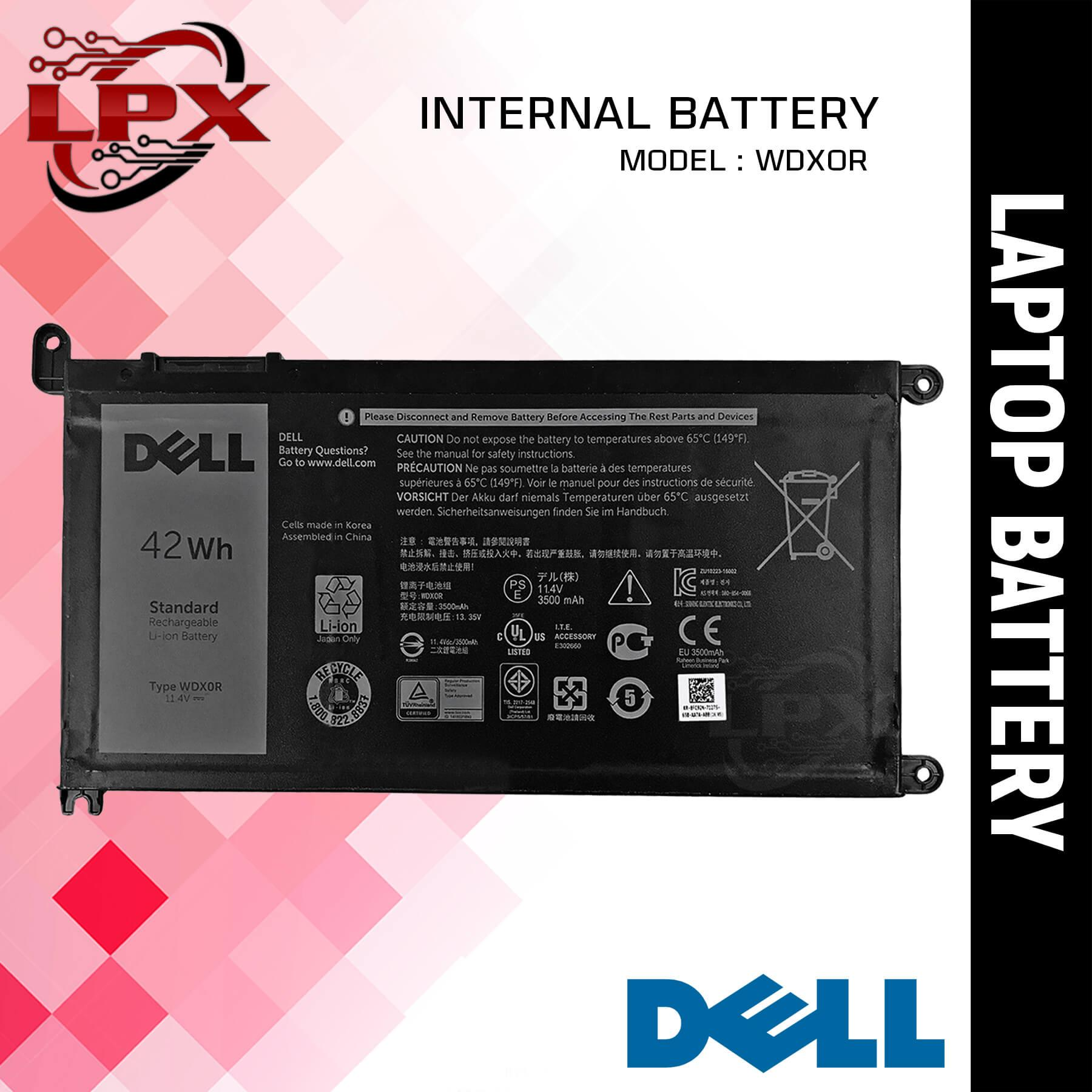 Laptop Battery WDX0R for Dell Inspiron 15 5538, 15 5567, 15 5568, 15 5578,  15 7000, 15 7560, 14-7460, 3189, 14 5468, 14-5468D-1305S, 13 5000, 13 5368,