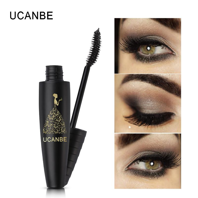UCANBE Long Lasting Black Mascara Waterproof Curling Thick Lengthening Volume Mascara Eyelash Extension 3D Fiber Eye Makeup Tool Philippines