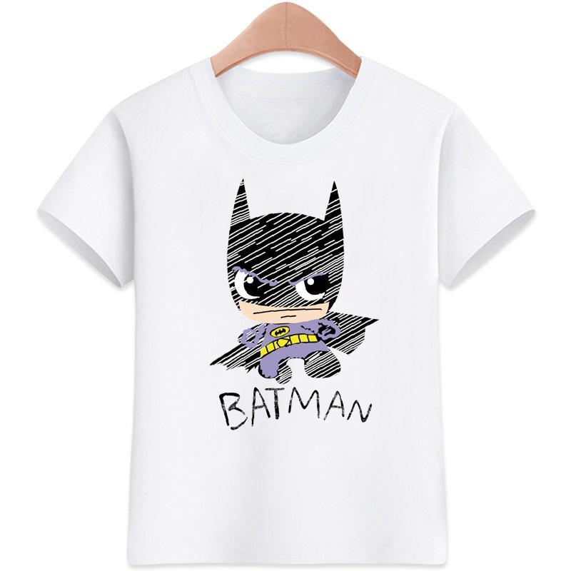 593456b517 Batman T-shirt for kids t-shirt Boy s T-shirt Girls Cartoon Pattern