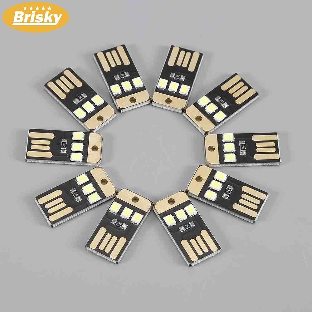 Hearty 10pcs Black Led Lamp Bulb Keychain Pocket Card Mini Led Night Light Portable Usb Power Active Components