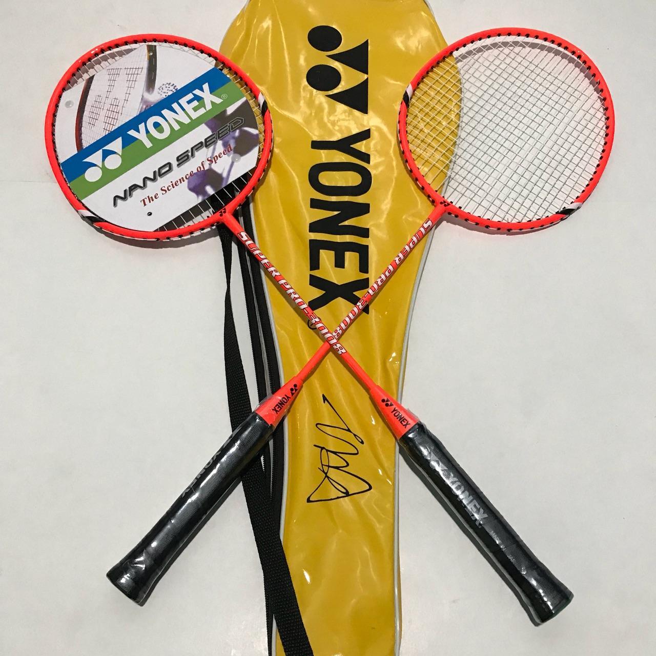 Yonex Badminton Racket Set of 2 with Bag PRO-3008