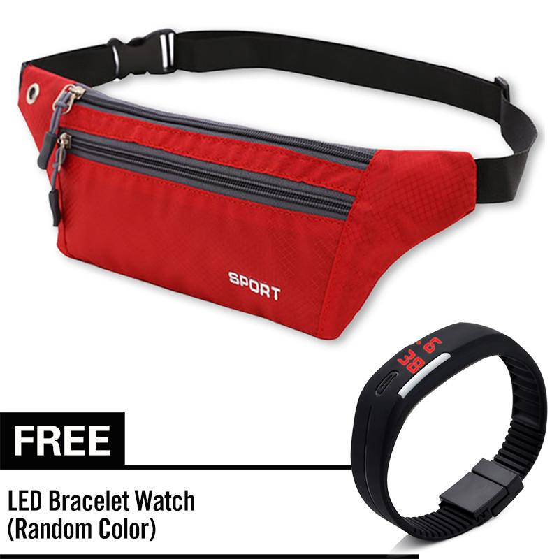 f1452c3dfe1b Casual Pack Sports Waterproof Running Bags men women Purse Pocket Mobile  Phone Belt Case Touch Screen Pouch Runing Waist Pack Sport Bag With Free  LED ...