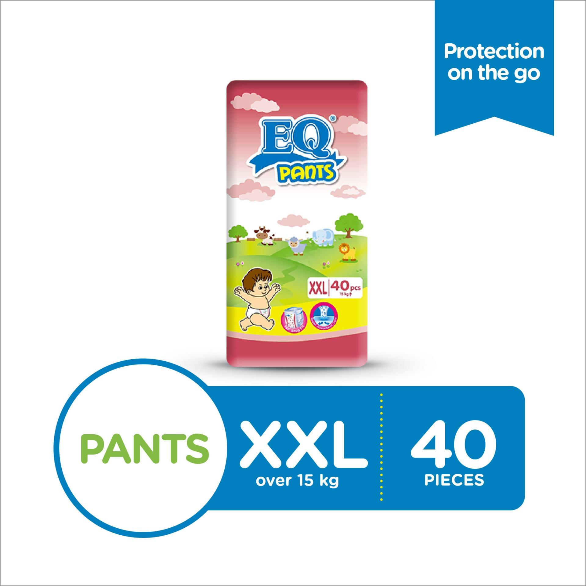 Eq Pants Xxl (15 - 25 Kg) - 40 Pcs X 1 Pack (40 Pcs) - Diaper Pants By Lazada Retail Eq.