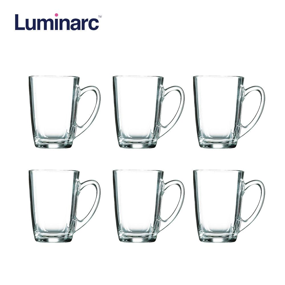 Luminarc New Morning Microwaveable and Dishwasher Safe Tempered Glass Mug Coffee 32cl 6pcs